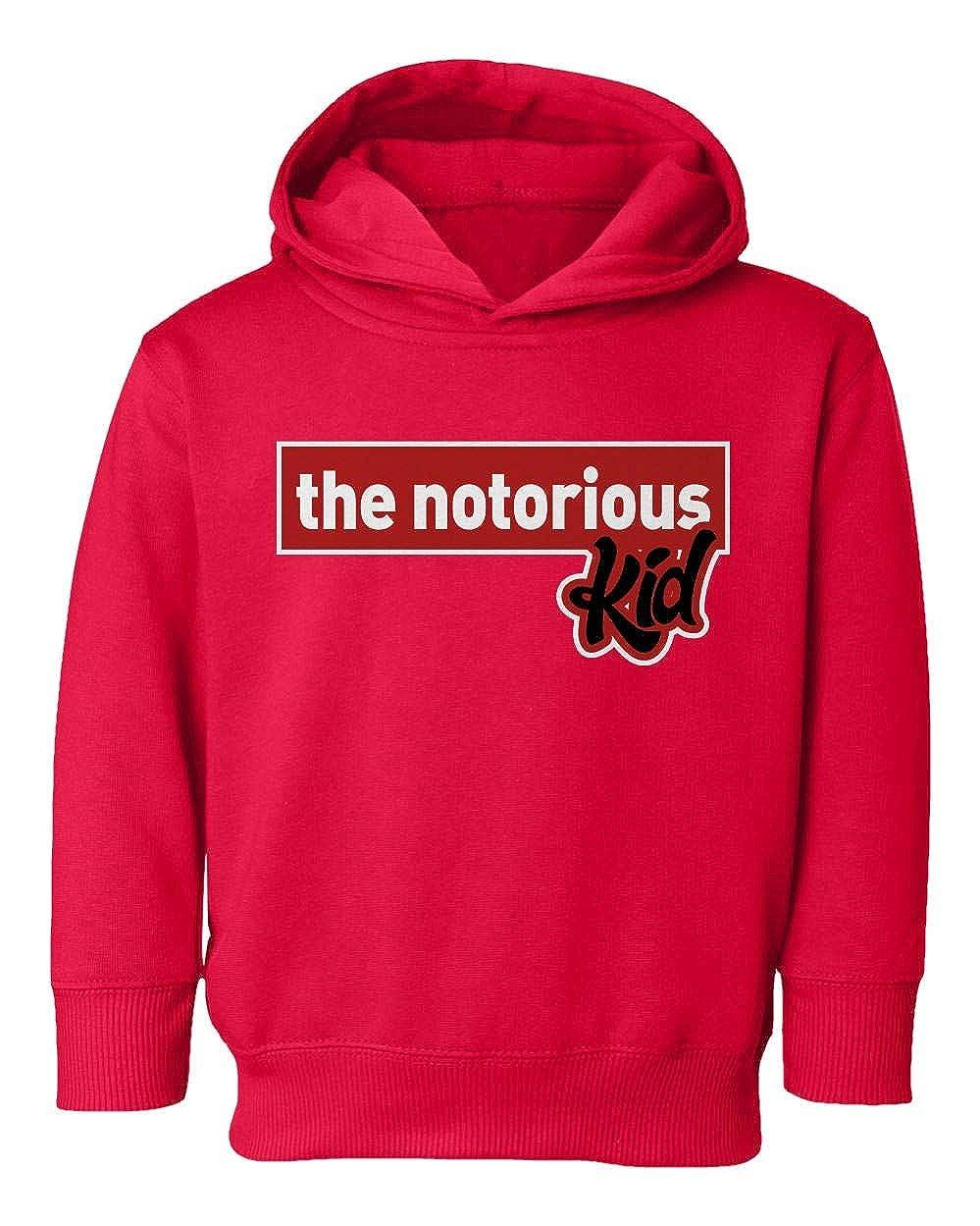 Societee Notorious Kid Funny Biggie Smalls Parody Girls Boys Toddler Hooded Sweatshirt