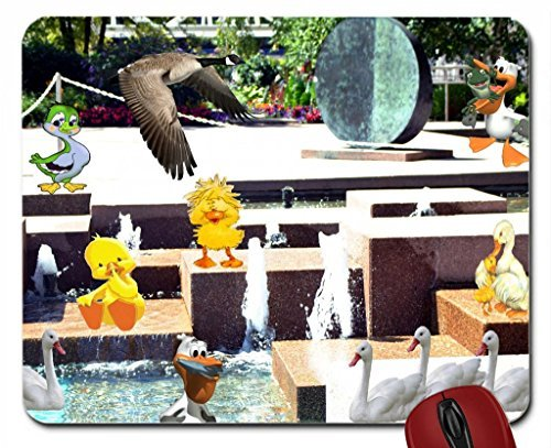 Ontario Canada Pc - Duck day fun at fountain at city hall Brampton Ontario Canada mouse pad computer mousepad