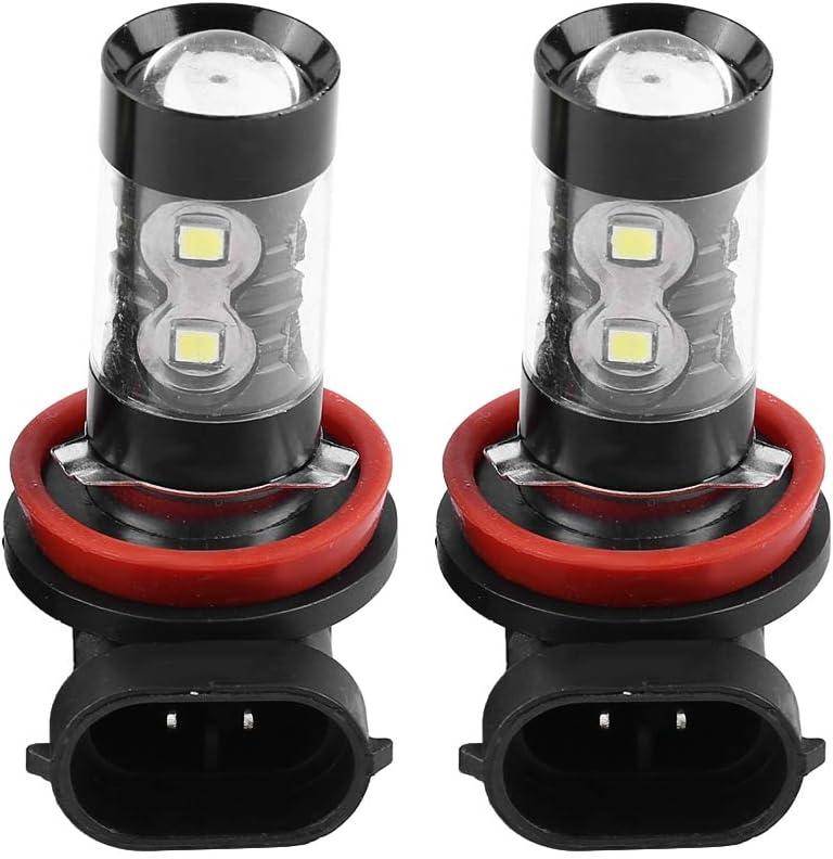 EBTOOLS 2 Pcs Luces Antiniebla para el Coche H8 H11 Llevó los bulbos brillantes del Coche de las Bombillas LED de las Luces de Niebla, 12V-24V 50W