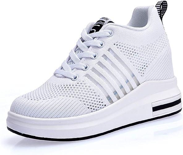 Breathable Mesh Chaussures Plateforme Chaussures Loisirs Sneaker Semelle Talon Compense d/'été femmes