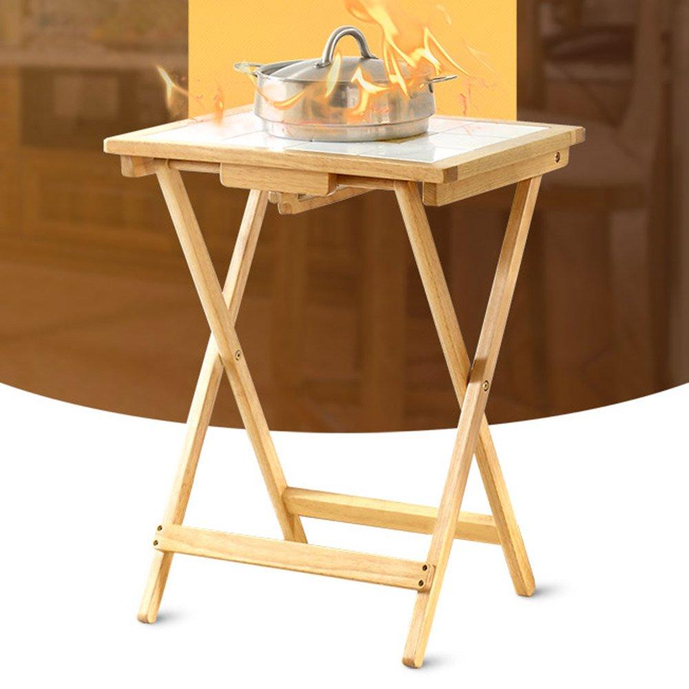 ZZHF 木製の折り畳み式のテーブル家庭用木製テーブルベッドルームダイニングスクエアテーブル2色645 * 500ミリメートル デスク ( 色 : B ) B078TX39Q4B
