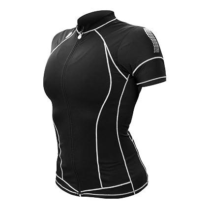 66b79c230893b Amazon.com   Desoto Women s Femme Skin Cooler Short Sleeve Tri Top ...