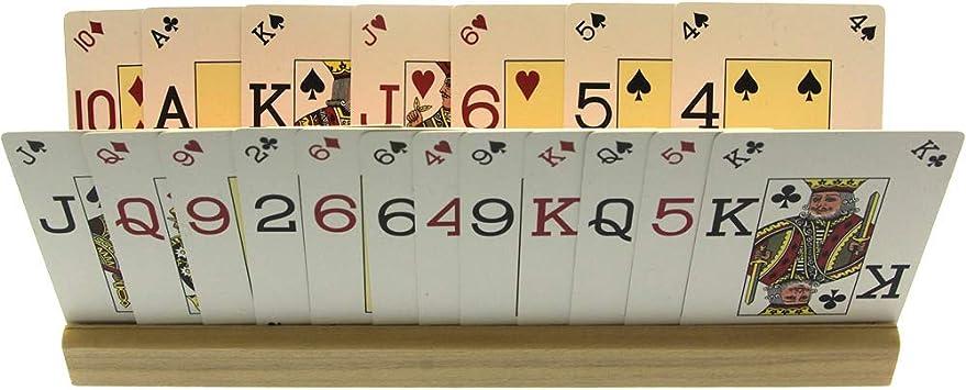 Brimtoy 2 Soportes de Madera para Cartas (35 cm) con Tarjetas de Juego.: Amazon.es: Juguetes y juegos