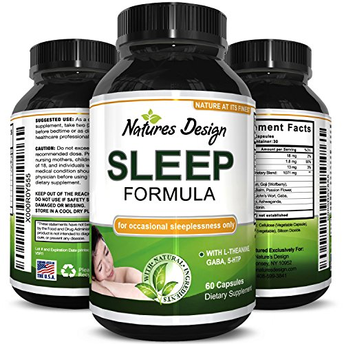 Natural Sleep Aid Pills the Best Herbal Sleeping Formula with Melatonin, GABA, L Theanine and 5 HTP  Top OTC Revitalizing Supplement Stack , Fall Asleep Fast for Adults (Revitalizing Sleep Formula)
