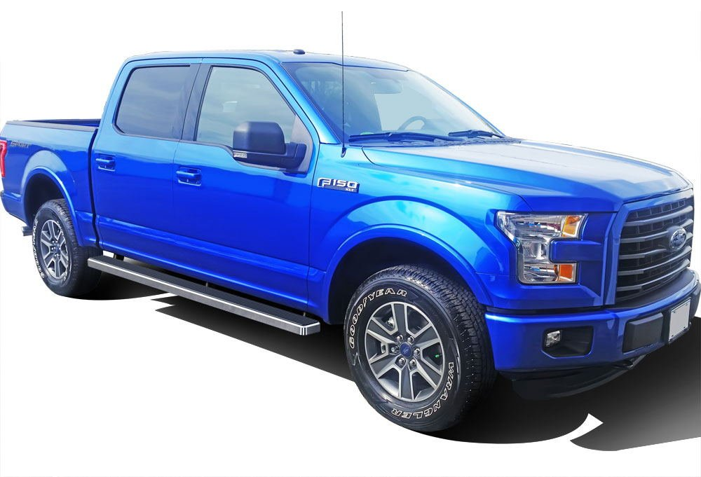 Wheel to Wheel iBoard 5 Custom Fit 2015-2018 Ford F150 SuperCrew Cab 5.5ft Bed Pickup 4-Door 2017-2018 Ford F-250//F-350 Super Duty Nerf Bars | Side Steps | Side Bars