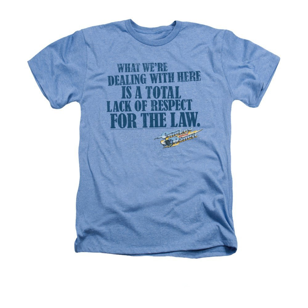 Smokey And The Bandit Lack Of Respect Adult Regular Heather T Shirt