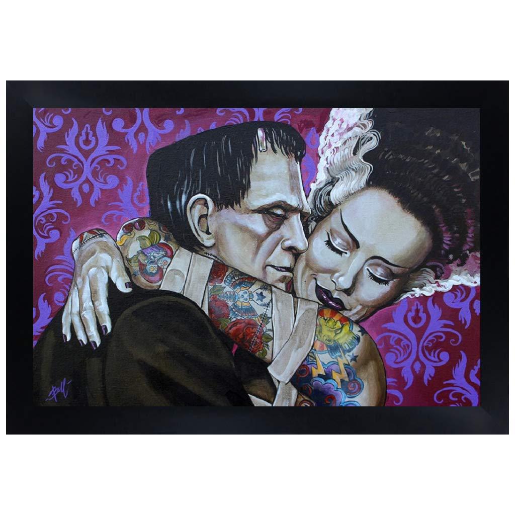 Amor Eterno por Mike Bell Monstruo de Frankenstein cuadro de los ...
