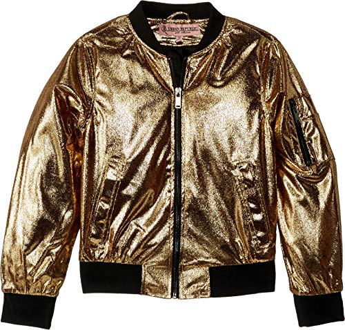 Metallic Bomber - Urban Republic Kids Girl's Ziggy Metallic Bomber Jacket (Little Kids/Big Kids) Gold 5-6