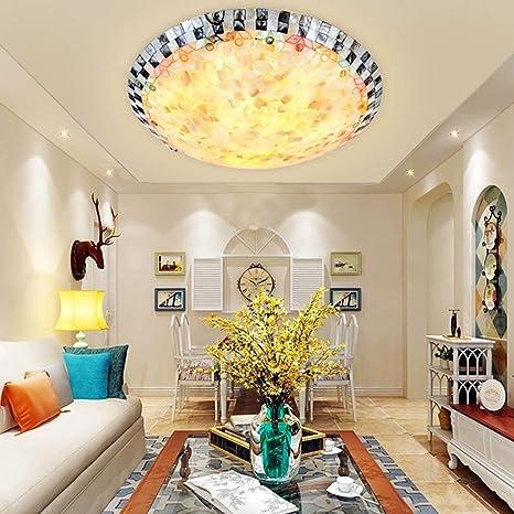 Luz de Techo LED Tiffany Style Art Parche Redondo Luces de ...