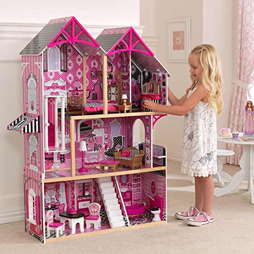 Amazon.es: KidKraft Couture Dollhouse + 14 Pieces of Furniture (3+ Years) by KK: Juguetes y juegos