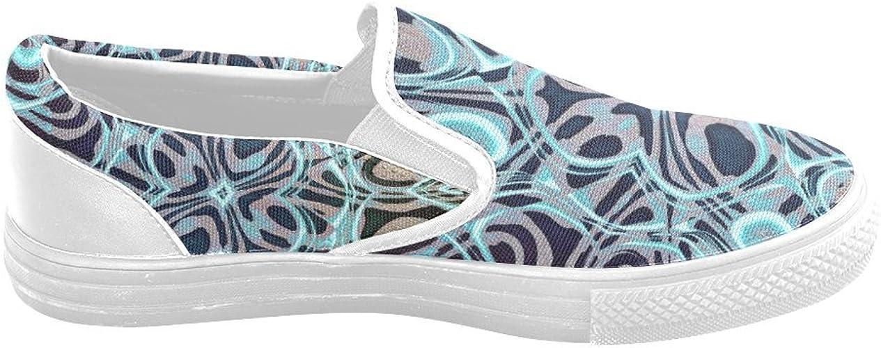Custom Unusual Slip-on Canvas Shoes Blast Blob Jera Nour Unusual Slipon Canvas Shoes for Men