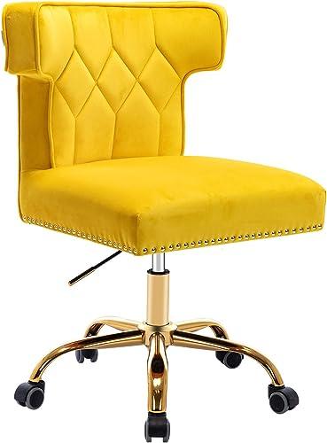 SSLine Velvet Desk Chair,Modern Home Office Chair