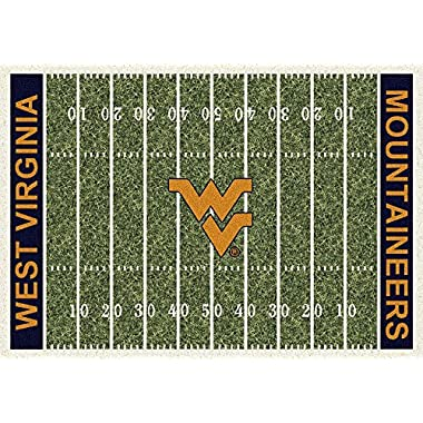 West Virginia Mountaineers Milliken NCAA Home Field Area Rug (5'4  x 7'8 )