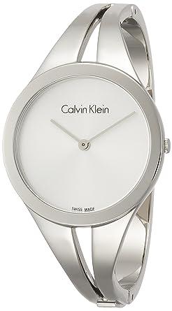 Calvin Klein Reloj Analogico para Mujer de Cuarzo con Correa en Acero Inoxidable K7W2S116: Amazon.es: Relojes