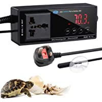 Echodee Digital LED Temperature Controller, Reptile Terrarium Thermostat Controller Outlet Thermostat with Suction Cup 1100W 220V