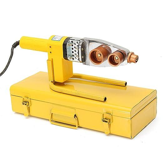 MASUNN 220V completo automático eléctrico calefacción PPR PE PP tubo tubería máquina de soldadura con caja: Amazon.es: Hogar
