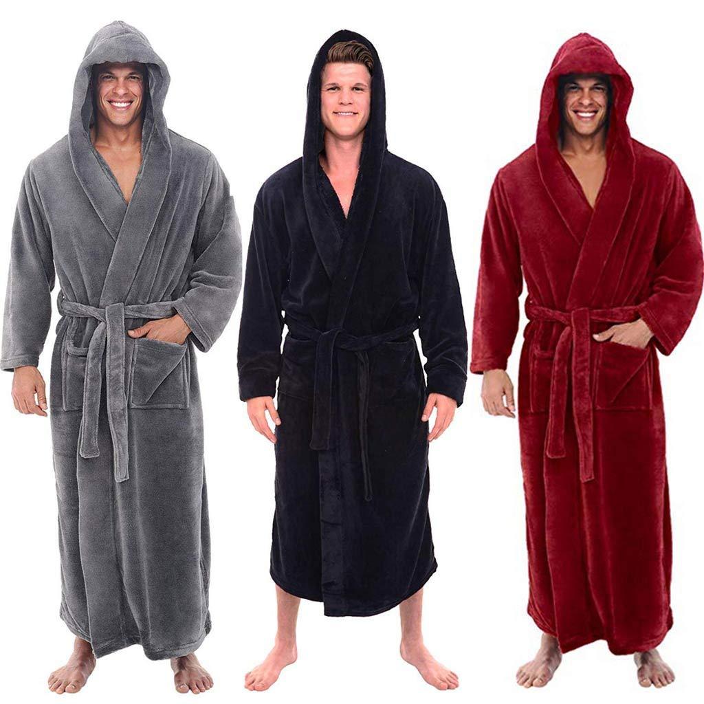 Mens Luxury Soft Dressing Gown Robe Terry Towel Bathrobe Bath Gym Shower Spa Hotel Robe Holiday