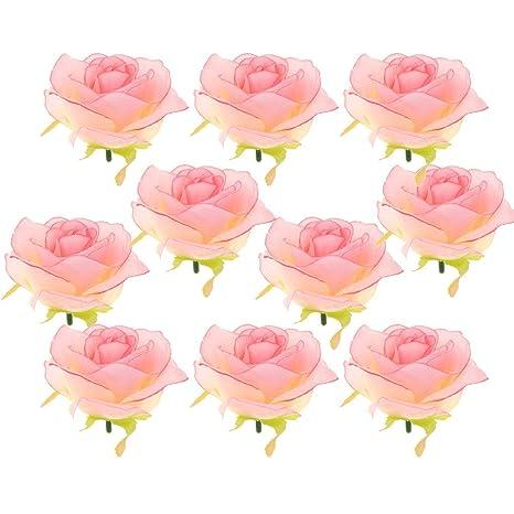 Amazon.com: KODORIA 10pcs rosas artificiales flores de seda ...