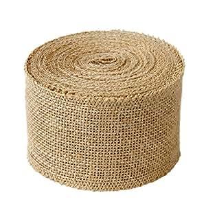 Creative Wide Burlap Fabric Craft Ribbon On Spool, 10 yd.
