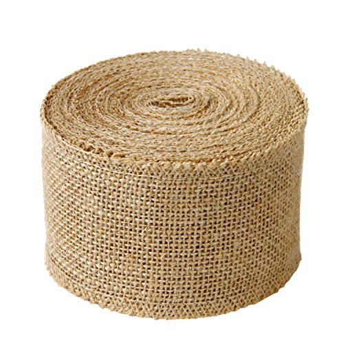 Creative Wide Burlap Fabric Craft Ribbon On Spool, 10 (Christmas Fabric Crafts)