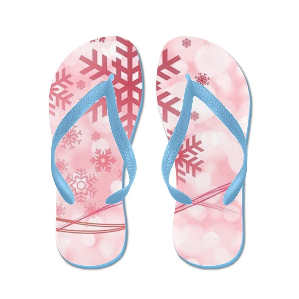 Lplpol Christmas Snowflakes Flip Flops for Kids and Adult Unisex Beach Sandals Pool Shoes Party Slippers