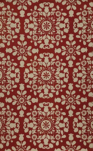 Momeni Rugs SUZHKSZI-4RED2030 Suzani Hooks Collection, 100% Wool Hand Hooked Traditional Area Rug, 2' x 3', Red 3' Hand Hooked Wool Rug