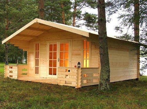 Casa para jardín Prikker München, 500 x 450cm + porche de 150cm, casa de madera para jardín, casa de madera: Amazon.es: Jardín