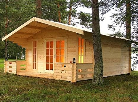 Casa para jardín Prikker München, 500 x 450cm + porche de 150cm ...