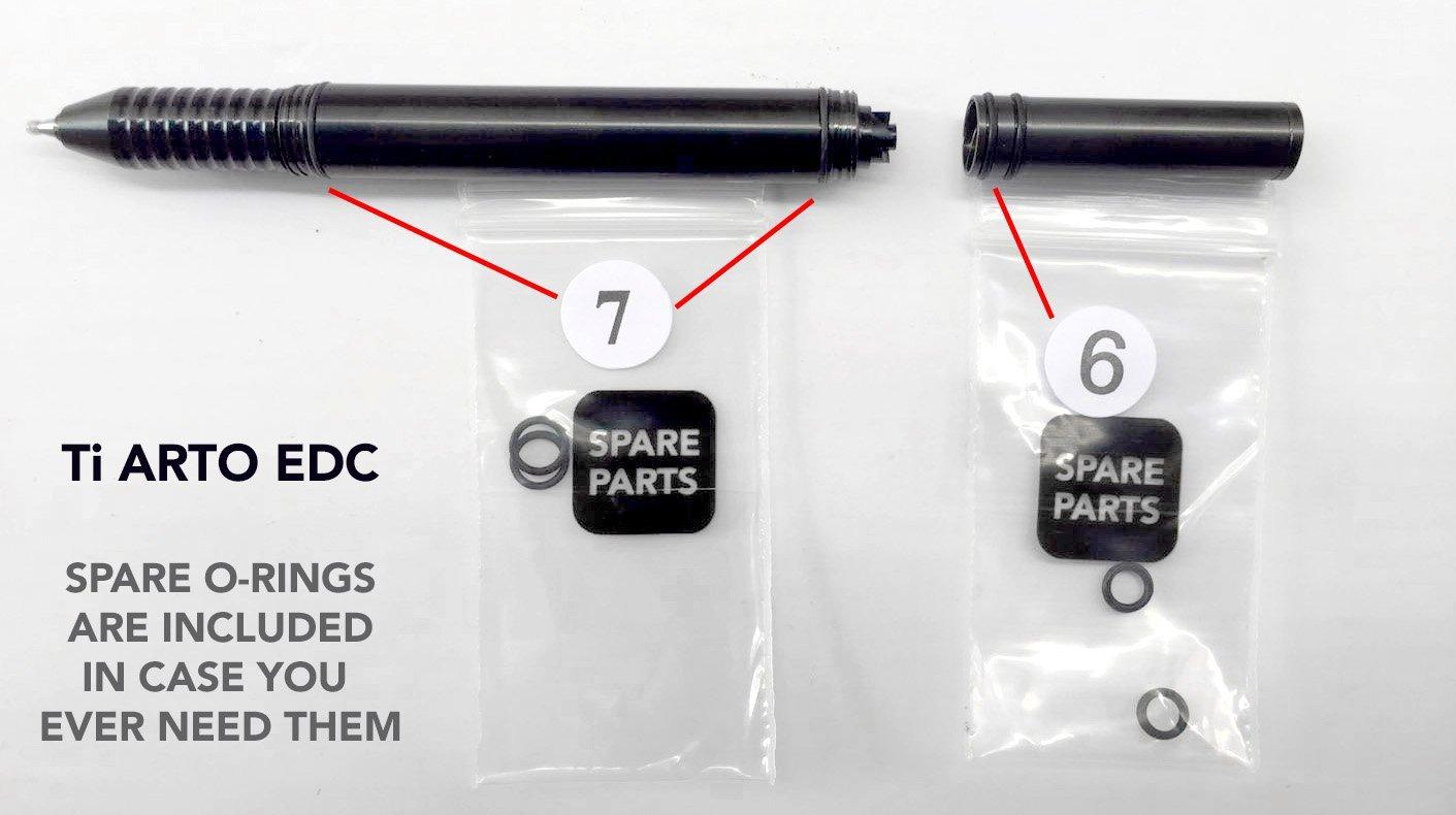 BIG IDEA DESIGN Ti Arto EDC : The Ultimate Refill Friendly Everyday Carry Pen (Midnight Black) by BIG IDEA DESIGN (Image #3)