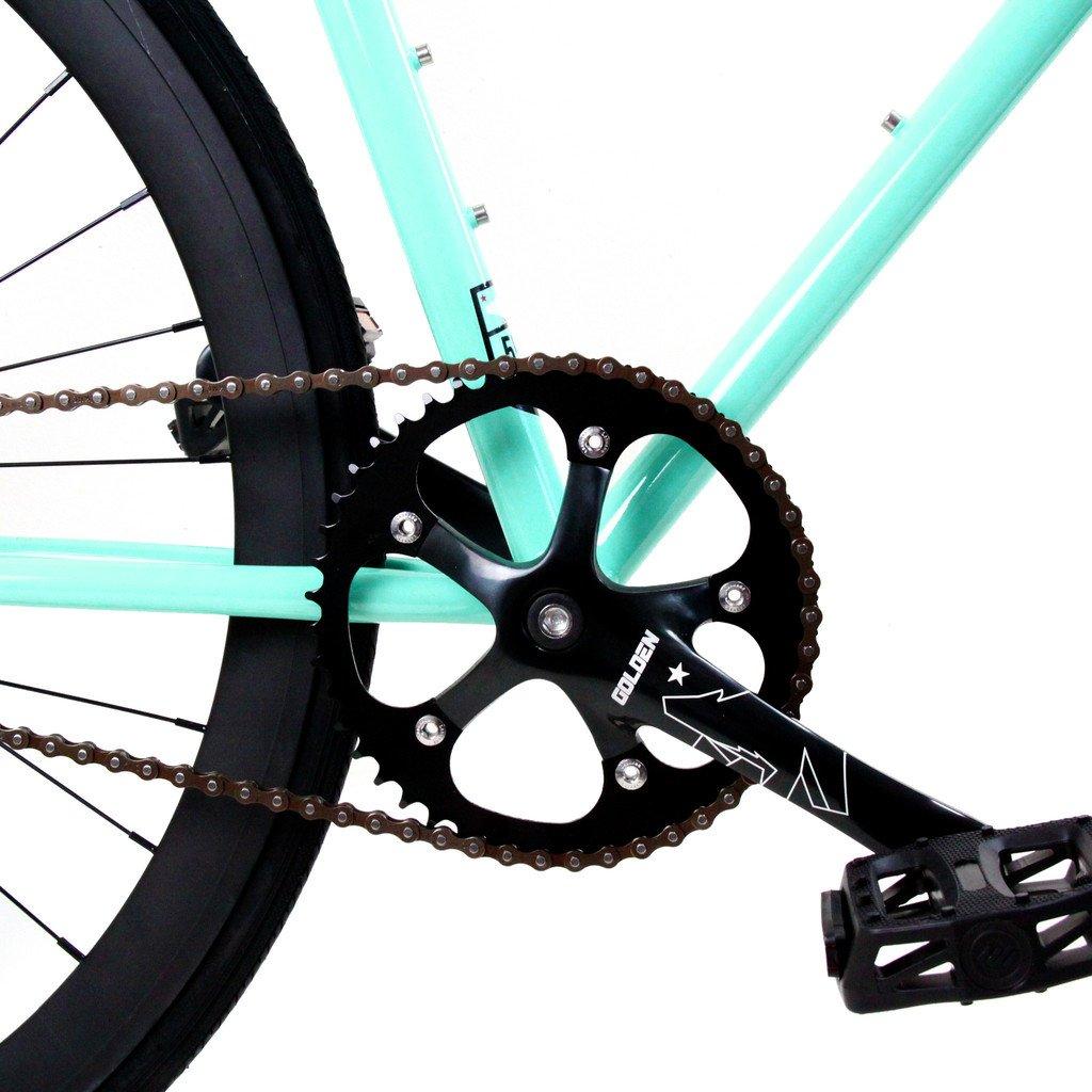 Golden Cycles Fixed Gear Single Speed Fixie Road Bike (Striker, 55)