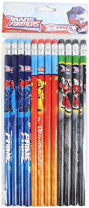 Transformers Authentic Licensed 12 Wood Pencils Pack