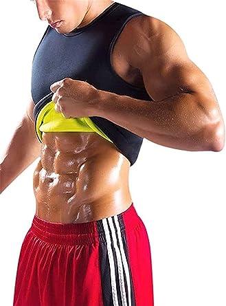 YeeHoo Faja Reductora Chaleco modelador Corporal Hombre Neopreno Camiseta Reductora Compresion de para la pérdida de Peso, musculación, Cardio, Sauna Traje para Sudar S-5XL: Amazon.es: Ropa y accesorios