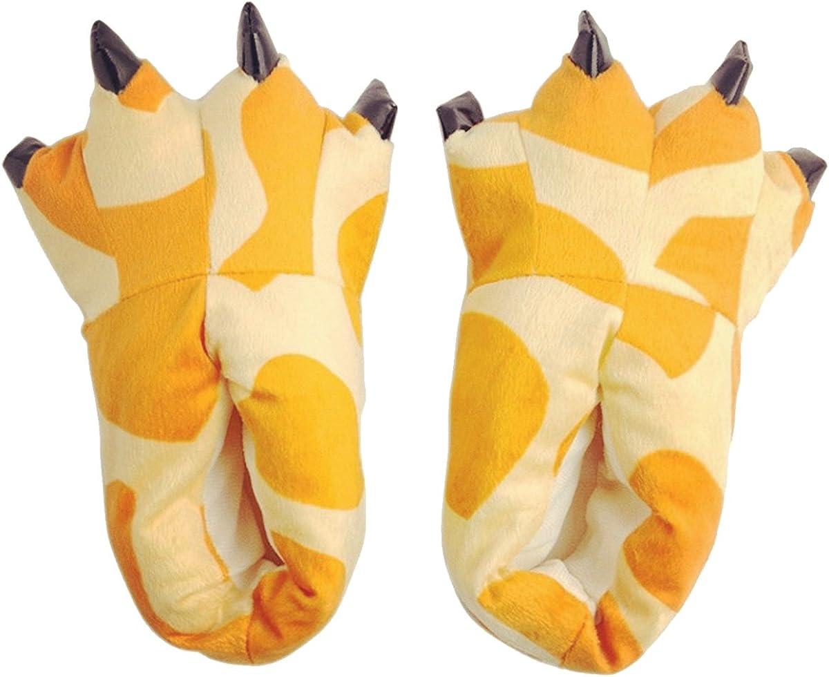 FashionFits Unisex Soft Plush Home Slippers Animal Costume Paw Claw Shoes