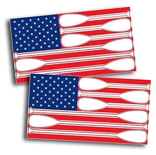 USA American Flag Decal Sticker SUP Paddle Board Canoe Kayak Yak Vinyl Graphic Boat Water Salt Ocean Lake