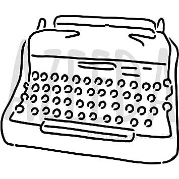Azeeda A3 Máquina de Escribir Plantilla de Pared / Estarcir (WS00038302)