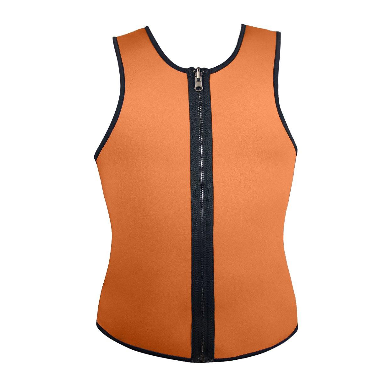 Men's Latex Workout Weight Loss Corset Reversible Training Zipper Vest yezhiyong-shop