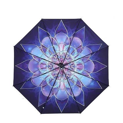 Sombrilla Doblar paraguas soleados creativos Sra. Paraguas de sol Súper solares fuertes paraguas negro paraguas