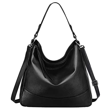 S-ZONE Women s Genuine Leather Handbag Hobo Bag Large Tote Shoulder Bag  Crossbody Bag ( dd31e4240ef01