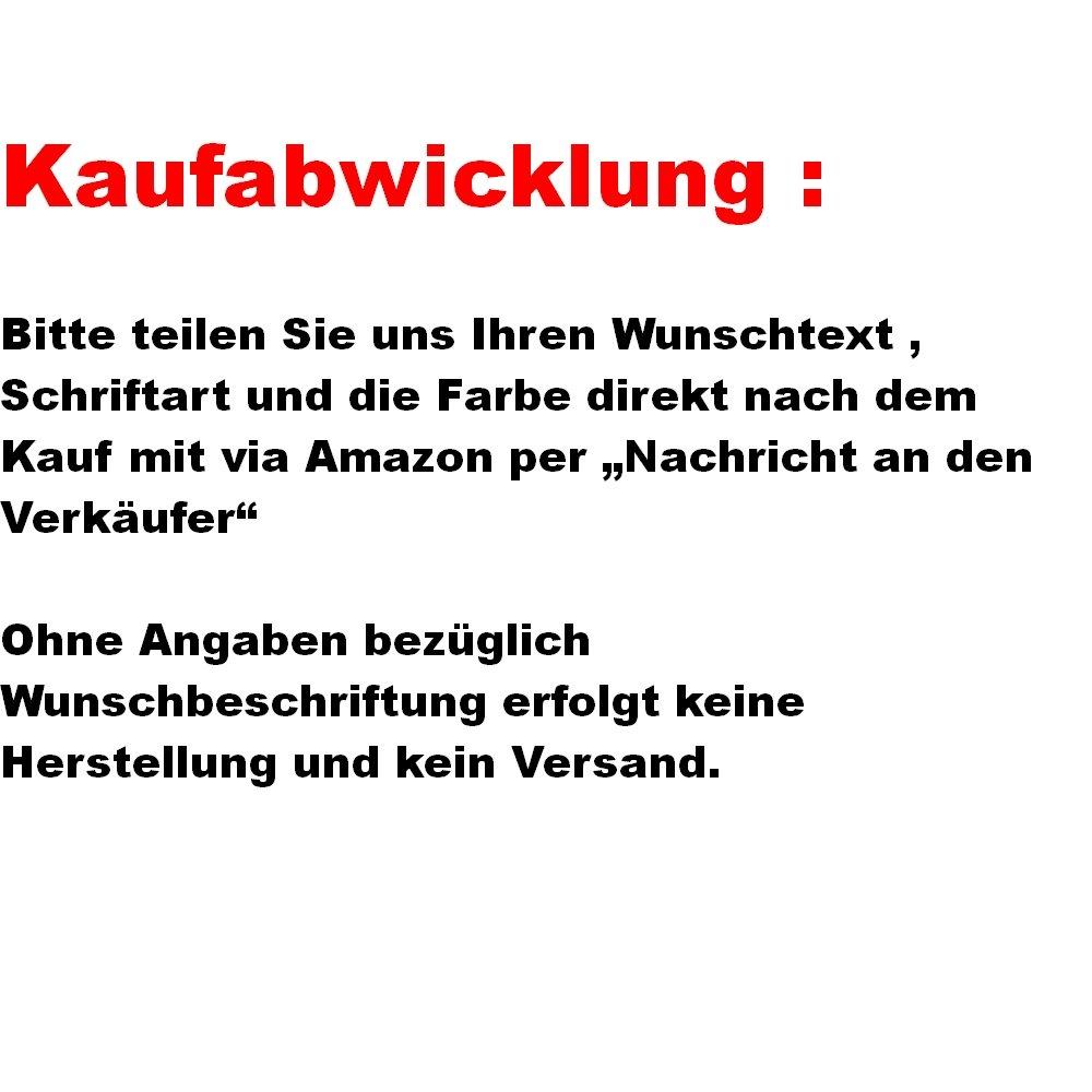 2 St/ück Kennzeichenhalter Schwarz hochglanz mit Wunschtext Beschriftung Werbung