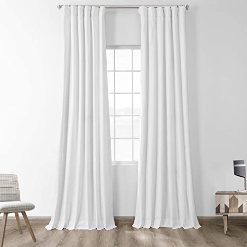 HPD Half Price Drapes PRCT-BO01B-120 Solid Cotton Blackout Curtain 1 Panel