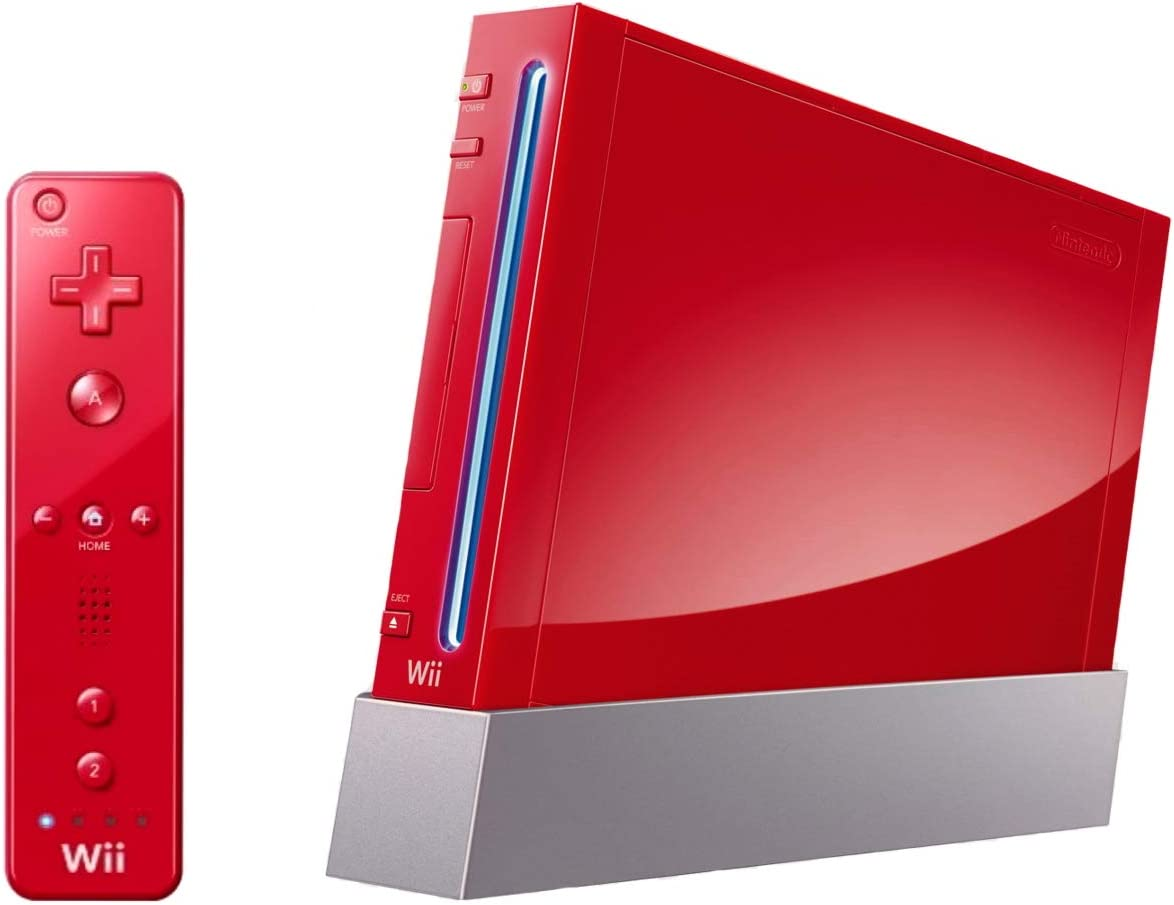 Nintendo Wii Console Red Renewed