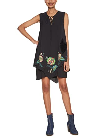 Desigual Dress Brendon 17WWVWB5 (Black) (EUR 38 - US 4)