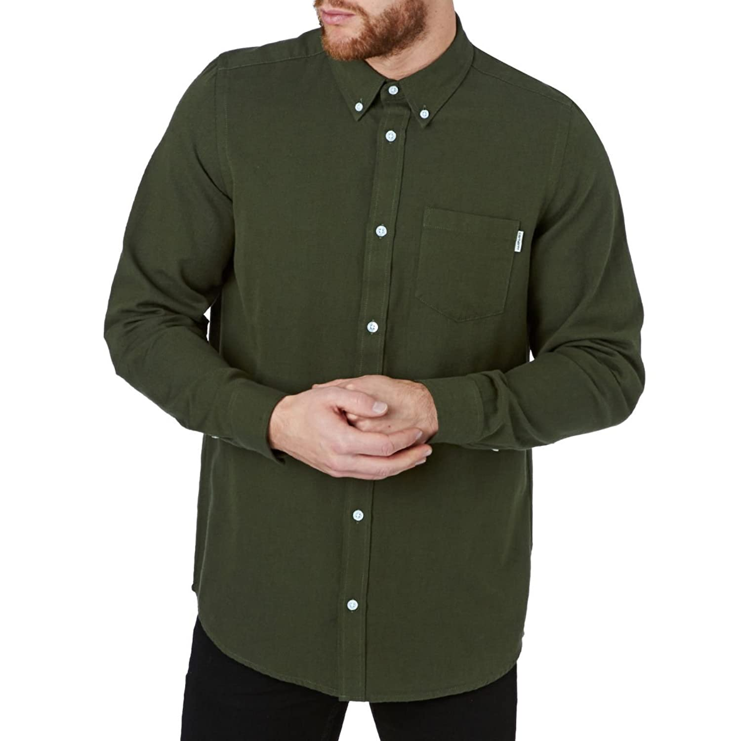 CARHARTT WIP - Casual Shirts - Men - Washed Dark Green Oxford Button-down Dalton Shirt for men