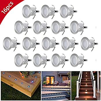 Riiai 6w 23mm Recessed Led Deck Lighting Kits Outdoor Garden Path Porch Stairs Landscape Light