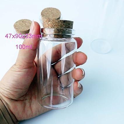 Luffy Nano Marimo Jar Clear Heart Shaped Glass Bottle With Cork