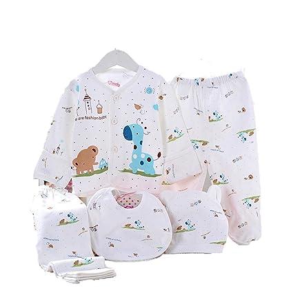 Bebé recién nacido ropa Set de algodón 5pcs (Cap + babero + pijama + ...
