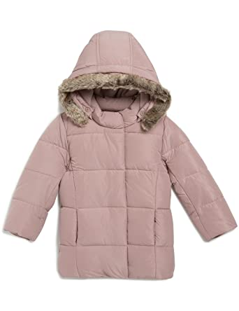 23b5572a8f86 Bout  Cabbage Down Jacket with Hood - Baby Girl - Pink - 9-12 Months ...