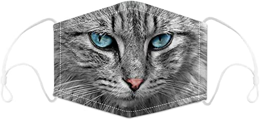 """Maske mit """"Blaue-Augen-Katze""""-Motiv"""