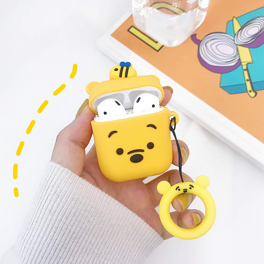 Mulafnxal for Airpods 1/&2 Case,Cute Funny Cartoon Animal Character Soft Silicone Airpod Cover,Kawaii Fun Cool Keychain Design Skin,Fashion Designer Cases for Girls Kids Teens Ladies Air pods 3D Mike