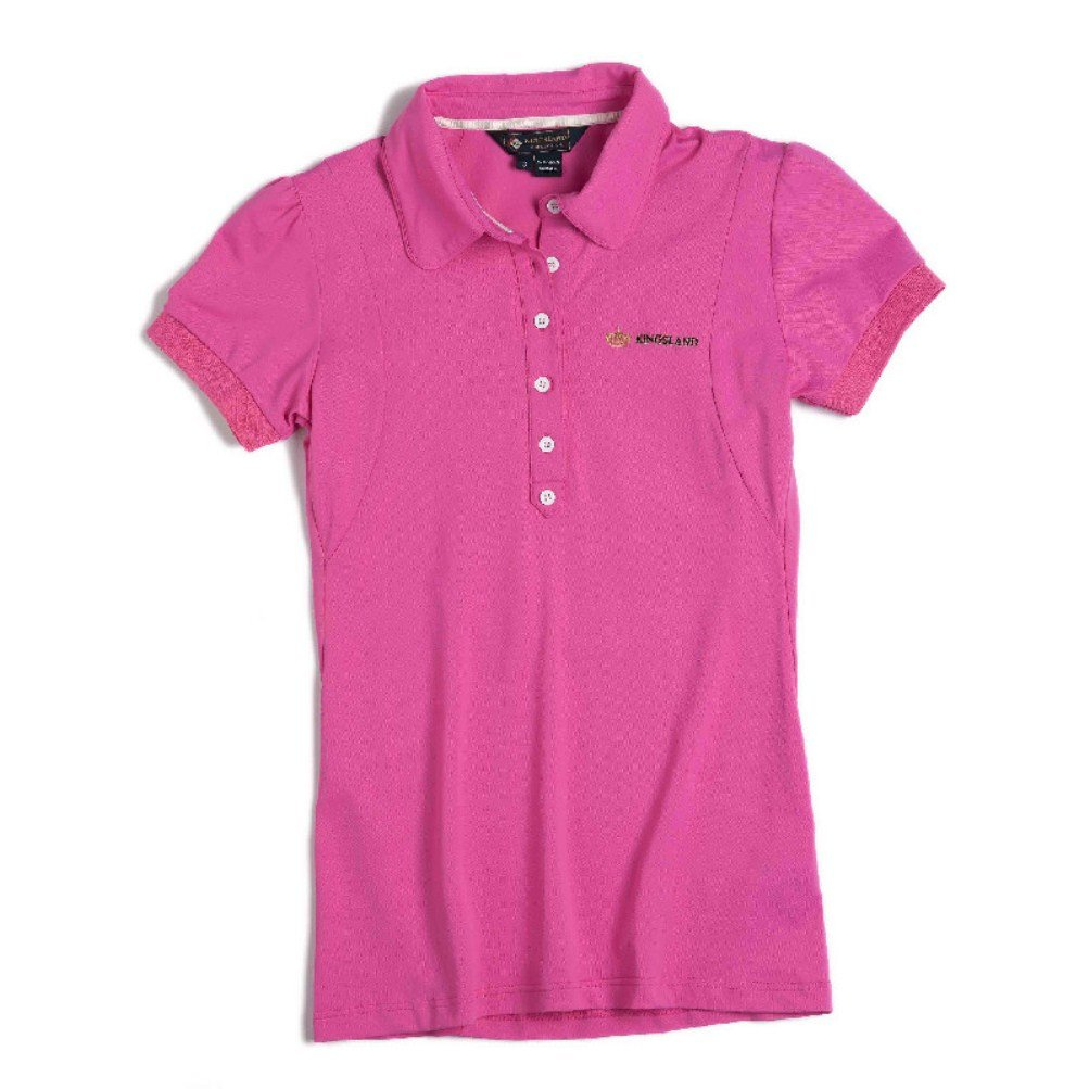 Kingsland Equestrian Women's Seaside Fitted Technical Polo-Pink-Small